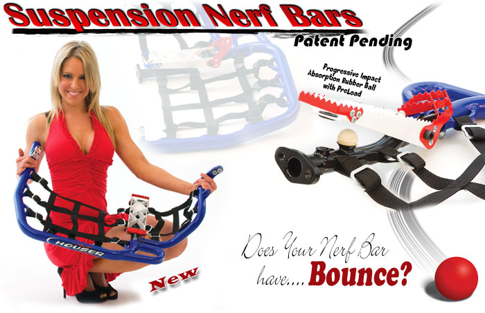 Houser Racing Suspension Nerf Bars ***New innovative design*** For all makes and Models in Mirror Black